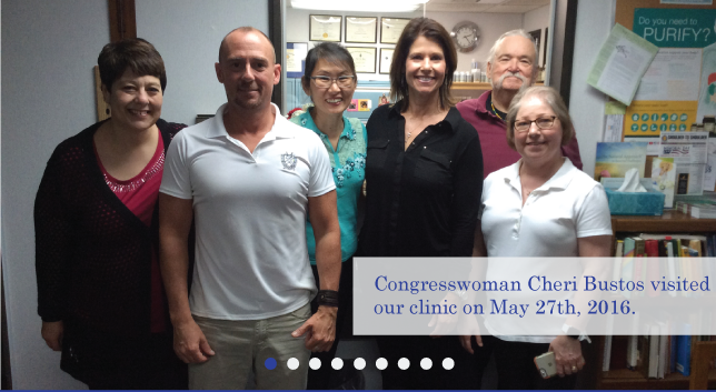 Photo of office members with congresswoman Cheri Bustos